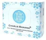 Charlie Banana - 2-in-1 Bamboo Liners & Wipes - 100 Wipe(s)