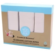 Charlie Banana - Organic Cotton Wipes - 10 Wipe(s)