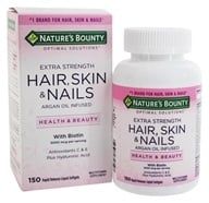 Nature's Bounty - Optimal Solutions Extra Strength Hair, Skin & Nails - 150 Liquid Softgels