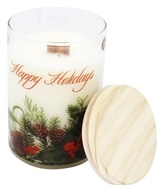 Terra Essential Scents - Seasonal Soy Candle Happy Holidays - 12 oz.