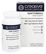 Creative BioScience - Sleep Formula - 60 Vegetarian Capsules