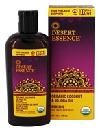 Desert Essence - Organic Coconut & Jojoba Oil - 4 oz.