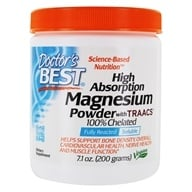 Doctor's Best - High Absorption Magnesium Powder with TRAACS 100% Chelated 200 mg. - 7.1 oz.
