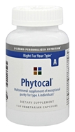 D'Adamo Personalized Nutrition - Phytocal A - 120 Vegetarian Capsules