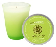 RareEssence - Aromatherapy Spa Candle Uplifting Light Green - 7 oz.