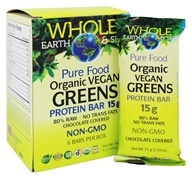 Whole Earth & Sea - Organic Vegan Greens Protein Bar - 6 Bars