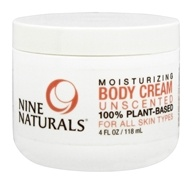 Nine Naturals - Moisturizing Body Cream Unscented - 4 oz.