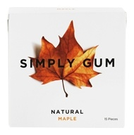 Simply Gum - All Natural Gum Maple - 15 Piece(s)