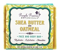 Purple Prairie Botanicals - Face and Body Bar Soap Shea Butter and Oatmeal - 4 oz.