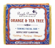 Purple Prairie Botanicals - Toning Facial Bar Soap Orange & Tea Tree - 4 oz.