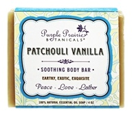 Purple Prairie Botanicals - Soothing Body Bar Soap Patchouli Vanilla - 4 oz.