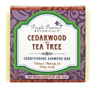 Purple Prairie Botanicals - Conditioning Shampoo Bar Soap Cedarwood and Tea Tree - 4 oz.