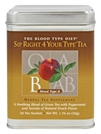 D'Adamo Personalized Nutrition - The Blood Type Diet Sip Right 4 Your Type Herbal Tea Supplement B - 20 Sachet(s)