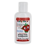 Eco-Dent - Daily Care For Kids Baking Soda Toothpowder Real Strawberry - 2 oz.