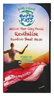 Earth Kiss - Million Year Clay Facial Revitalise Bamboo Sheet Mask Rhassoul Clay & Juniper - 1 Mask