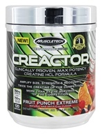Muscletech Products - Creactor Creatine Formula Performance Series Fruit Punch Extreme 120 Servings - 9.51 oz.