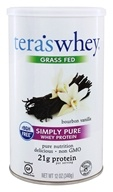 Tera's Whey - Simply Pure Whey Protein Grass Fed Bourbon Vanilla - 12 oz.