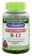 Vitafusion - Vitamin B-12 Extra Strength Energy Metabolism Support Natural Cherry Flavor 3000 mcg. - 90 Gummies