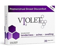 Violet - Premenstrual Breast Discomfort Daily Iodine - 30 Tablets