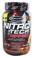 Muscletech Products - Nitro Tech Ripped Performance Series Chocolate Fudge Brownie - 2 lbs.
