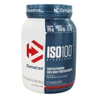 Dymatize Nutrition - ISO 100 100% Hydrolyzed Whey Protein Isolate Strawberry - 1.6 lbs.