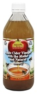 Dynamic Health - Organic Apple Cider Vinegar with the Mother and Natural Honey Glass - 16 oz.