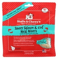Stella & Chewy's - Freeze-Dried Dog Food Savory Salmon & Cod Meal Mixers - 3.5 oz.