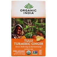 Organic India - Tulsi Tea Turmeric Ginger - 18 티백