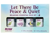 NOW Foods - Let There Be Peace & Quiet Relaxing Essential Oils Kit - 4 Bottle(s)