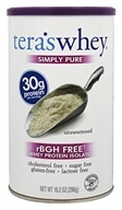 Tera's Whey - Simply Pure Whey Protein Isolate rBGH Free Unsweetened - 10.2 oz.