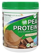Growing Naturals - Raw Pea Protein Chocolate Power - 15.8 oz.