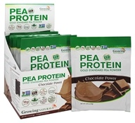 Growing Naturals - Raw Pea Protein Chocolate Power - 12 Packet(s)