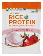 Growing Naturals - Organic Rice Protein Strawberry Burst - 1.09 oz.