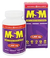 Natural Balance - MSM 1000 mg. - 120 Tablets