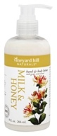 Vineyard Hill Naturals - Hand & Body Lotion with Grape Seed Extract Milk & Honey - 9 oz.