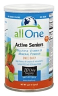 All One - Active Seniors Multiple Vitamin & Mineral Powder Unflavored - 5.3 oz.