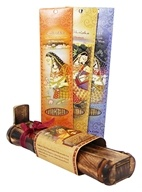 Prabhuji's Gifts - Bamboo Incense Burner with Storage + 3 Meditation Incense Packs Thinking of You!