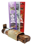 Prabhuji's Gifts - Bamboo Incense Burner with Storage + 3 Chakra Incense Packs Always