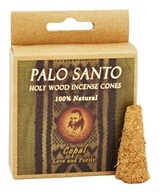 Prabhuji's Gifts - Palo Santo Holy Wood Incense Cones Love & Purity Copal - 6 Cone(s)