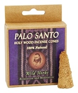 Prabhuji's Gifts - Palo Santo Holy Wood Incense Cones Relaxation & Meditation Wild Herbs - 6 Cone(s)