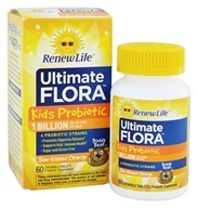 Renew Life - Ultimate Flora Kids Probiotic 1 Billion Sun-Kissed Orange - 60 Chewable Tablets