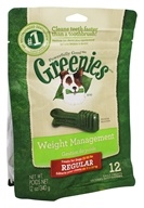Greenies - Dental Chews For Dogs Weight Management Regular - 12 Chews