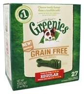 Greenies - Dental Chews For Dogs Grain Free Regular - 27 Chews