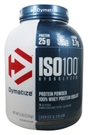 Dymatize Nutrition - ISO 100 100% Hydrolyzed Whey Protein Isolate Cookies & Cream - 5 lbs.