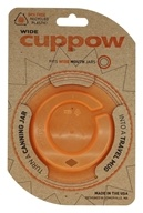 Cuppow - Canning Jar Drinking Lid Wide Mouth Orange