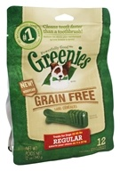 Greenies - Dental Chews For Dogs Grain Free Regular - 12 Chews