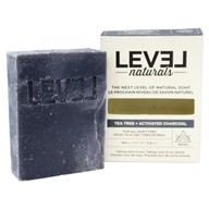 Level Naturals - Bar Soap Tea Tree + Activated Charcoal - 5.8 oz.