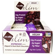 NuGo Nutrition - Slim Dark Chocolate Bar Espresso - 12 Bars