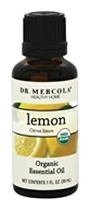 Dr. Mercola Premium Products - Organic Lemon Essential Oil - 1 oz.
