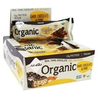 NuGo Nutrition - Organic Bar Dark Chocolate Almond - 12 Bars